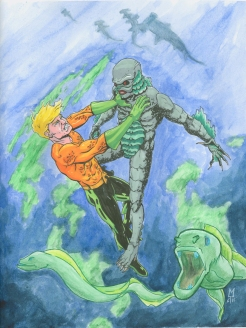 Aquaman vs. the Creature