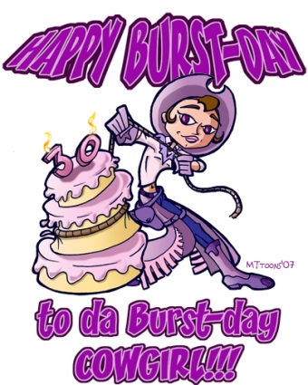 The Burst-day Cowgirl Card