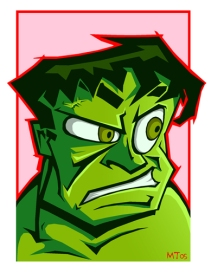 HULK SMASH- the best Hulk I have ever drawn.
