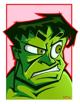 HULK SMASH- the best Hulk I have ever drawn.