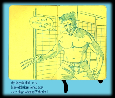 Mini Moleskine- The Wolverine