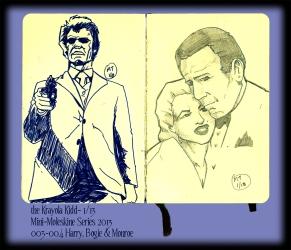 Mini Moleskine- Eastwood, Bergman and Bogart