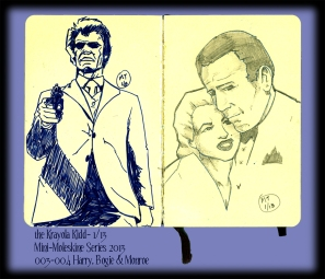 Mini Moleskine- Eastwood, Bergman and Bogart