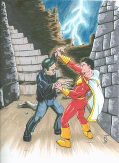Captain Marvel vs. Frankenstein's Monster
