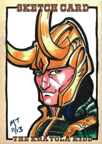 Loki Sketch Card