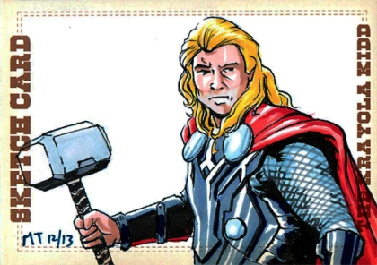 ThorMovie Sketch Card